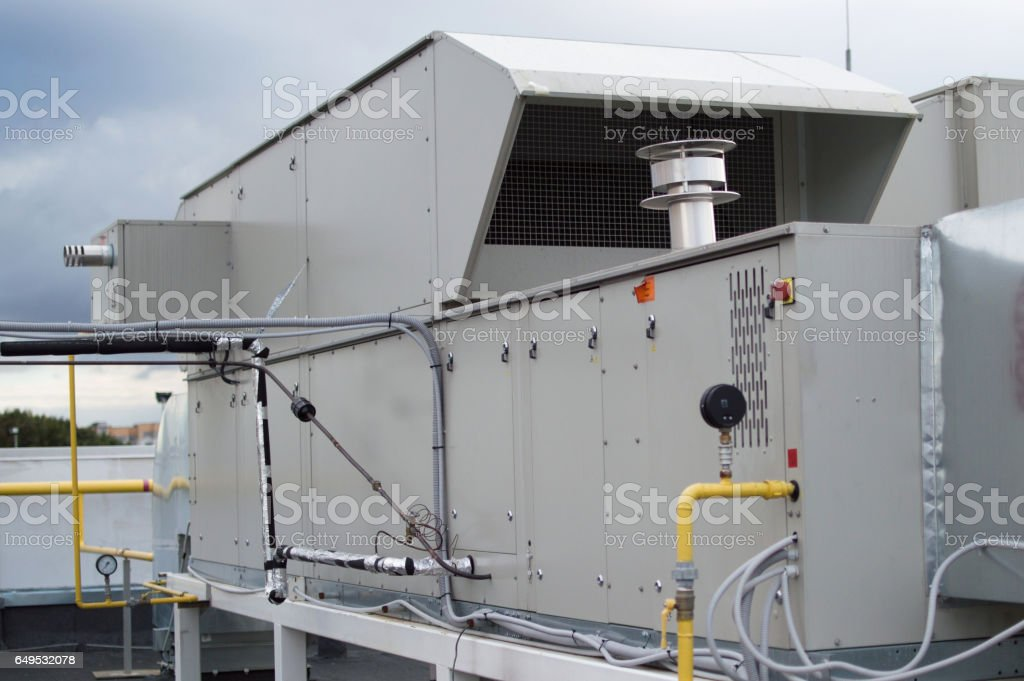 Air Handling Unit for the central ventilation system stock photo