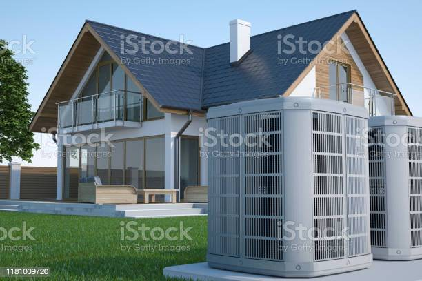 Air heat pump and house picture id1181009720?b=1&k=6&m=1181009720&s=612x612&h=iganpx6npv 07ir0zuwp4c6jrcky5sva7wortamdok0=