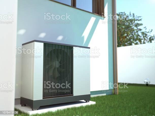 Air heat pump beside house 3d illustration picture id1075473126?b=1&k=6&m=1075473126&s=612x612&h=hvix0zgynrytgudqqx2ltyhuqarz 0np8xfizcyt0iq=