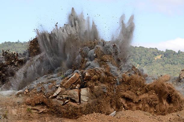 Air Hill Blast stock photo