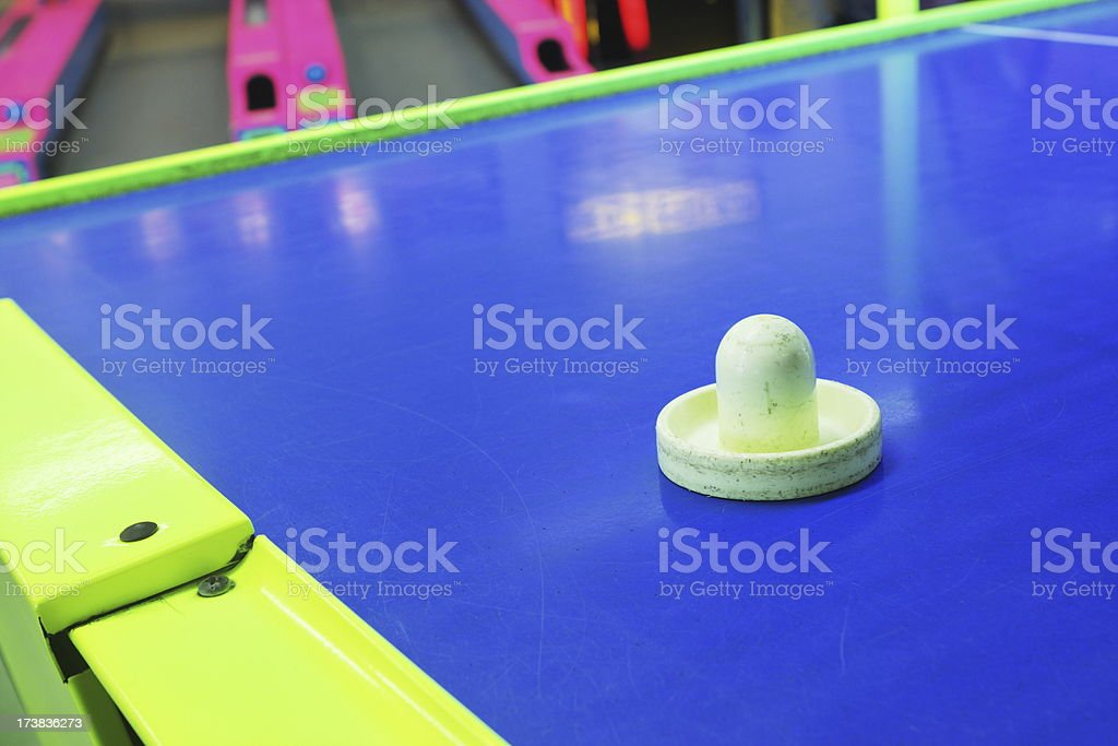 Air Hockey Amusement Arcade Game royalty-free stock photo
