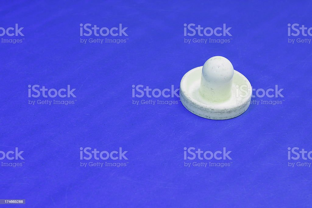 Air Hockey Paddle Game Table Surface stock photo