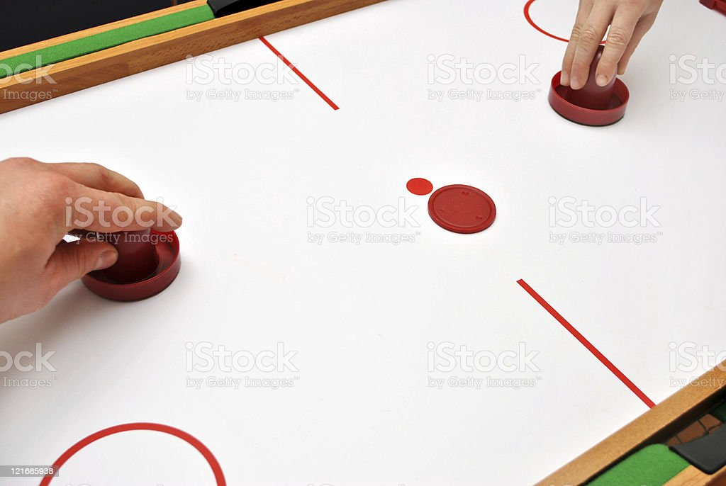 Air Hockey stock photo
