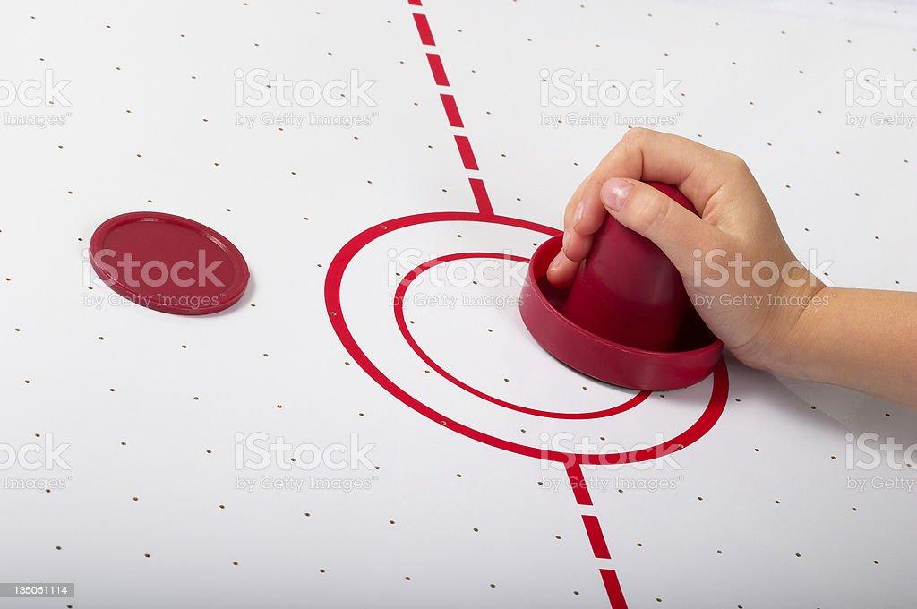 Air hockey stock photo