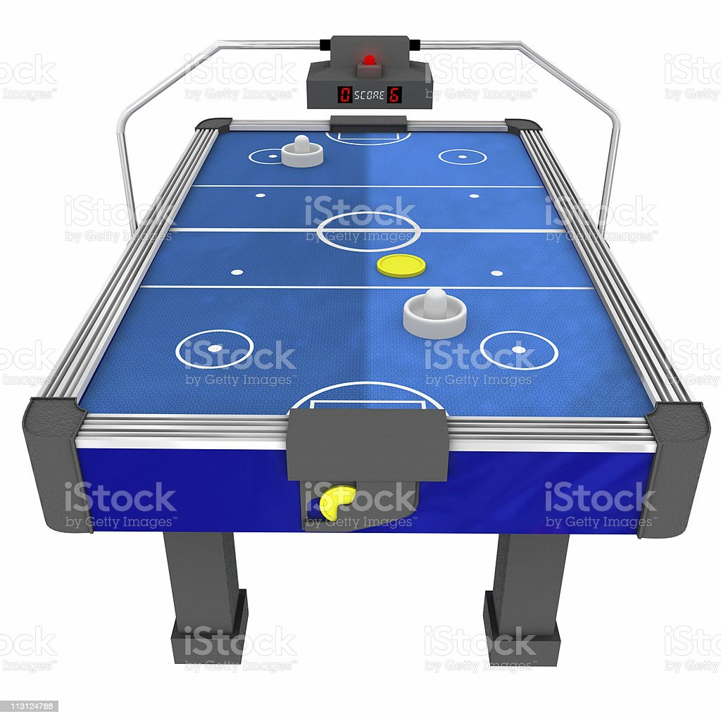 Air Hockey Table Front (Isolated) stock photo