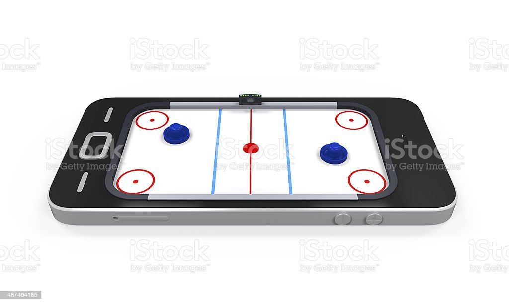 Air Hockey Table In Mobile Phone Stock Photo More Pictures Of Arts