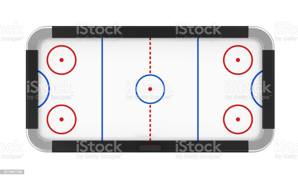 Air Hockey Table Isolated stock photo