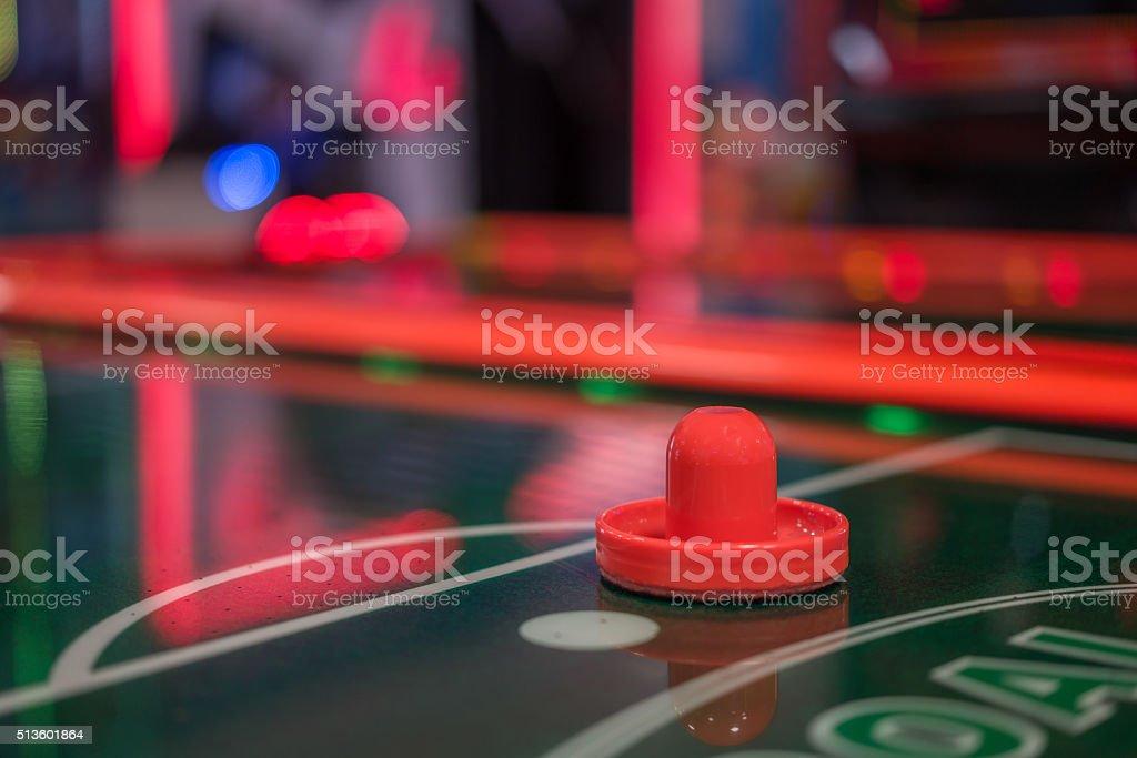 Mesa de hóquei de mesa com luz - foto de acervo