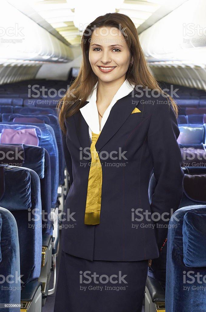 Air hostess royalty-free stock photo