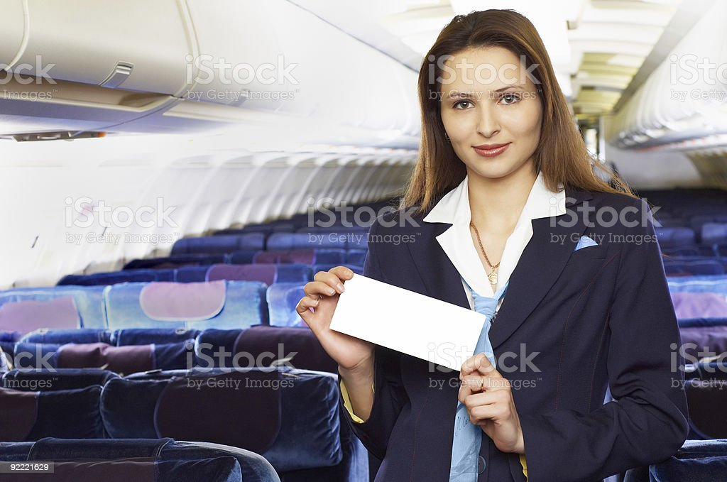 air hostess (stewardess) royalty-free stock photo