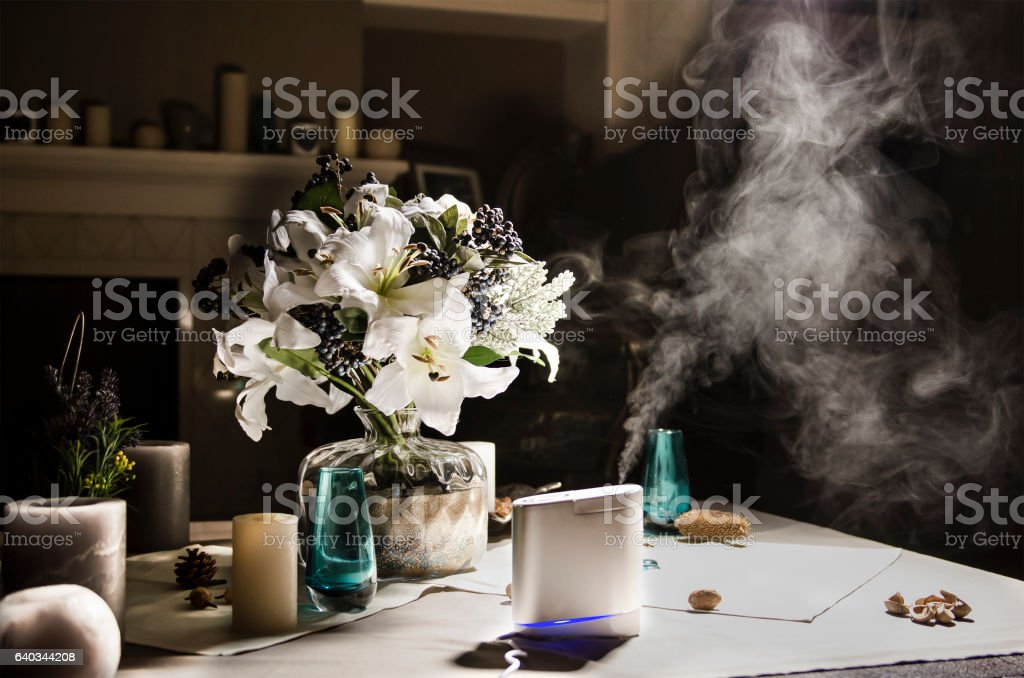 air humudifier in Living room stock photo
