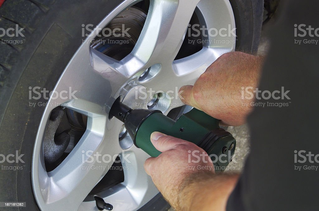 Air Impact Wrench stock photo