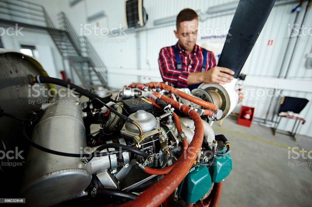 Air jet motor stock photo