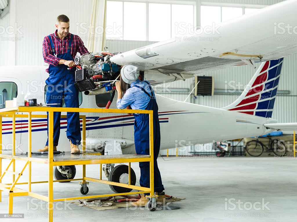 Air jet service stock photo