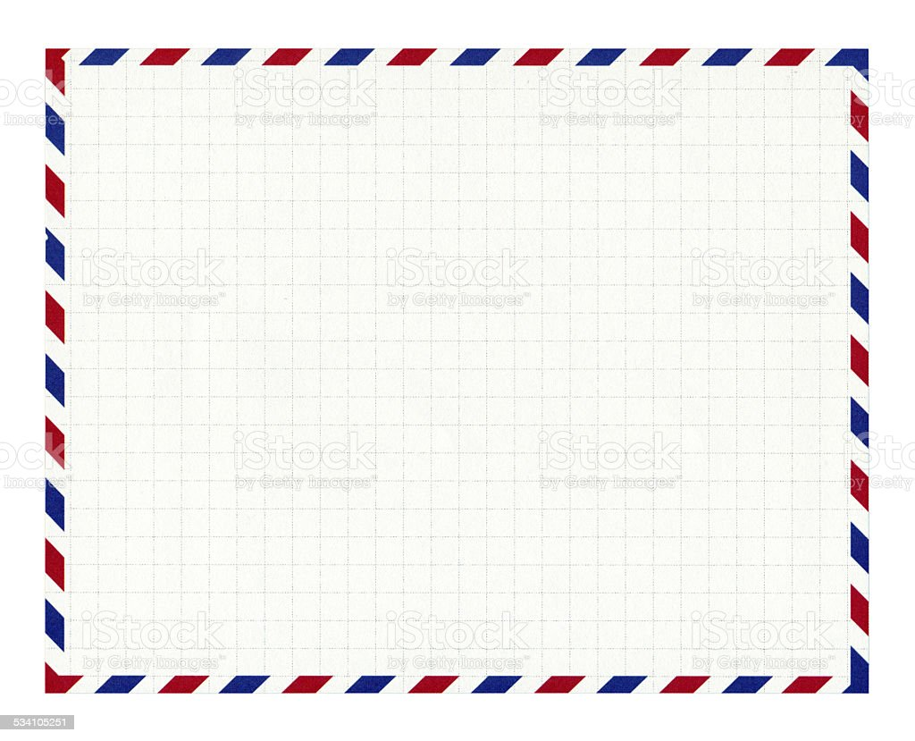 Air mail envelope paper background textured isolated stock photo