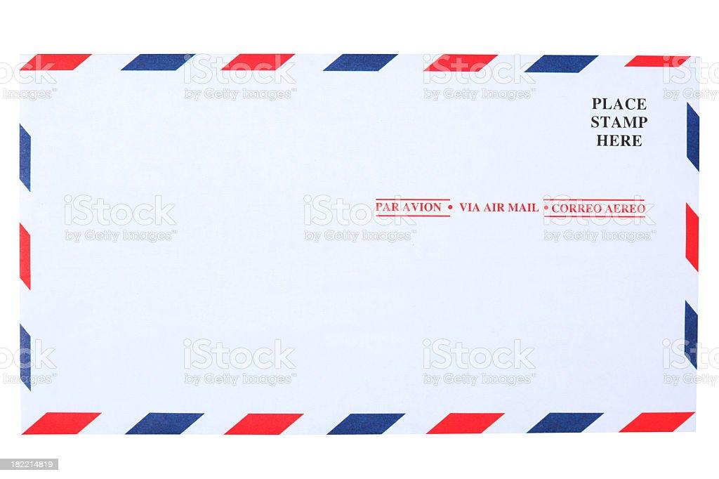 Air mail envelope royalty-free stock photo