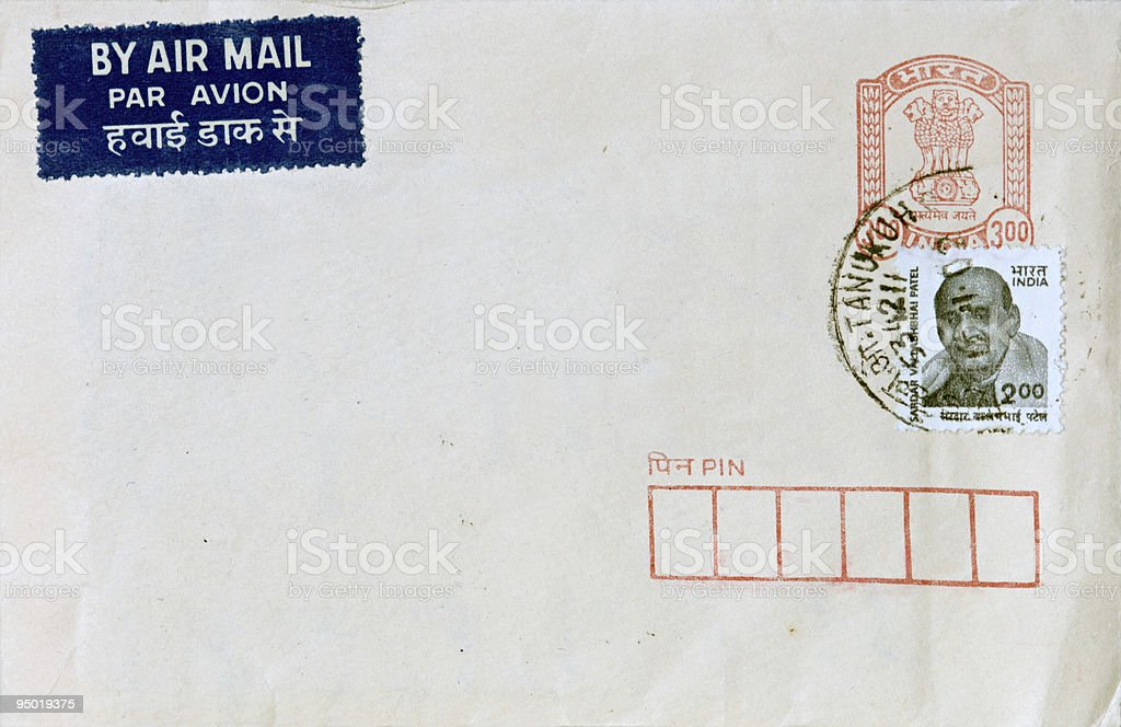 Air Mail from India royalty-free stock photo