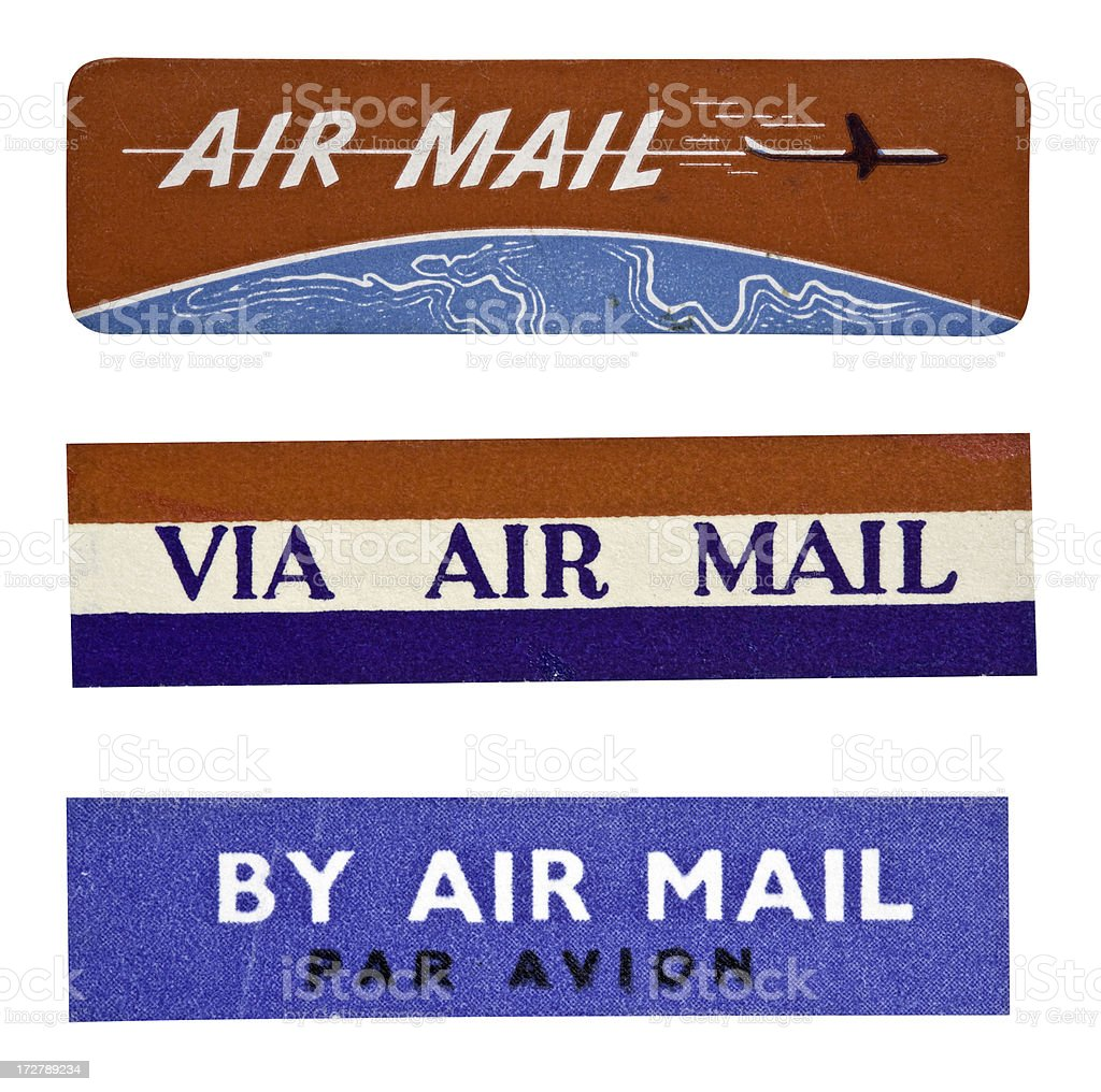 Air Mail Label royalty-free stock photo