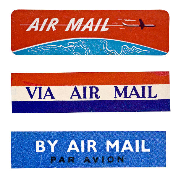 Air Mail Label stock photo