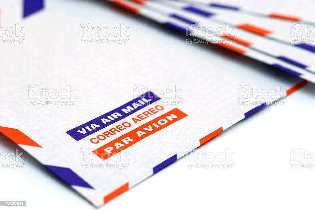 Air mail royalty-free stock photo