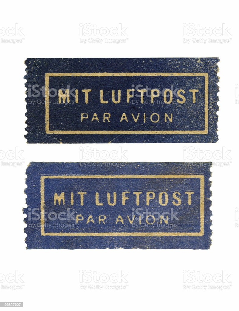 Air mail stickers royalty-free stock photo