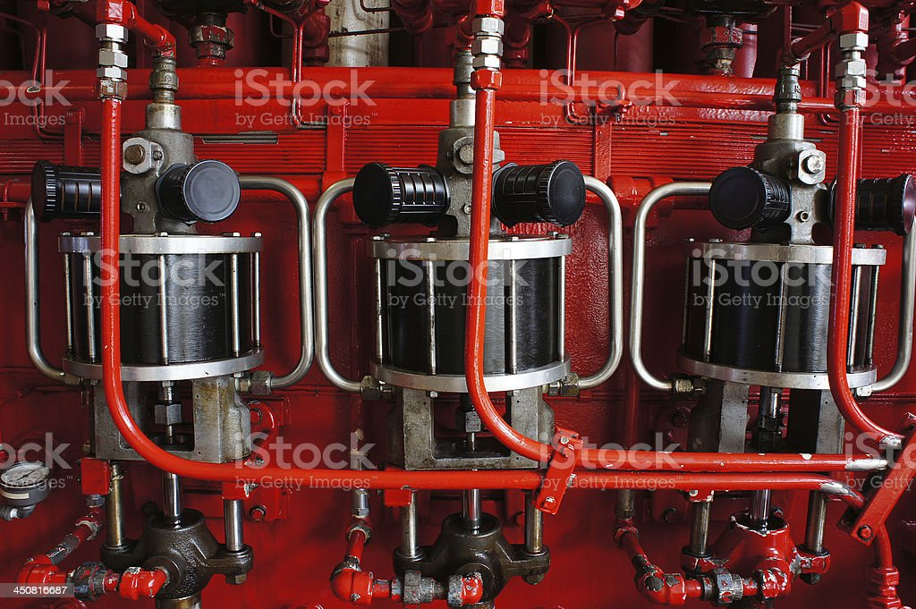 Air Operated Pump for Accumulator stock photo
