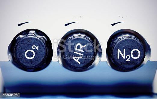 istock Air, oxygen, nitrous oxide - medical gases. concept. 465094952