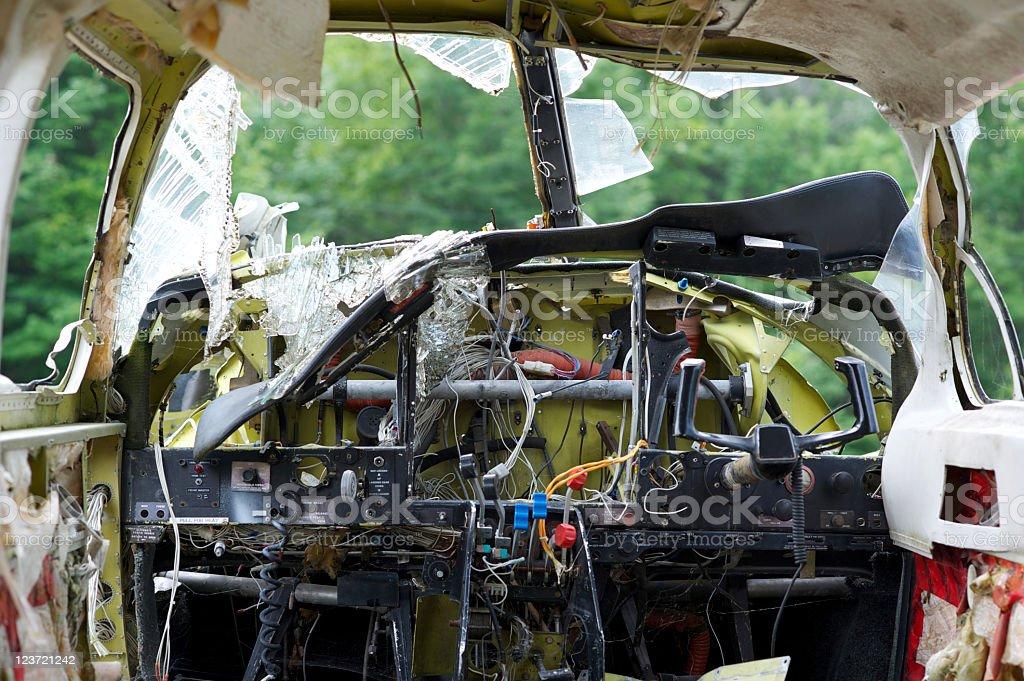 Air plane cockpit stock photo