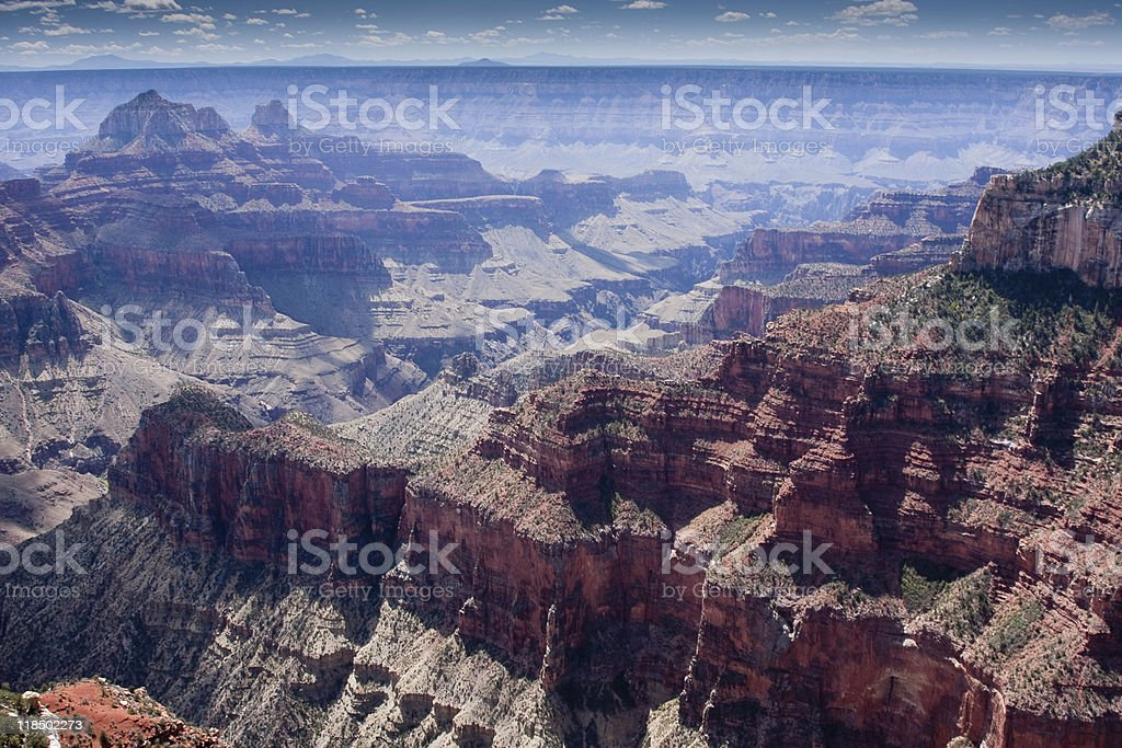 Air Pollution and Haze over the Grand Canyon royalty-free stock photo