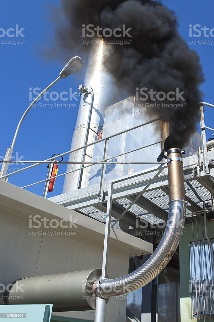 air pollution caused by a discharge stock photo
