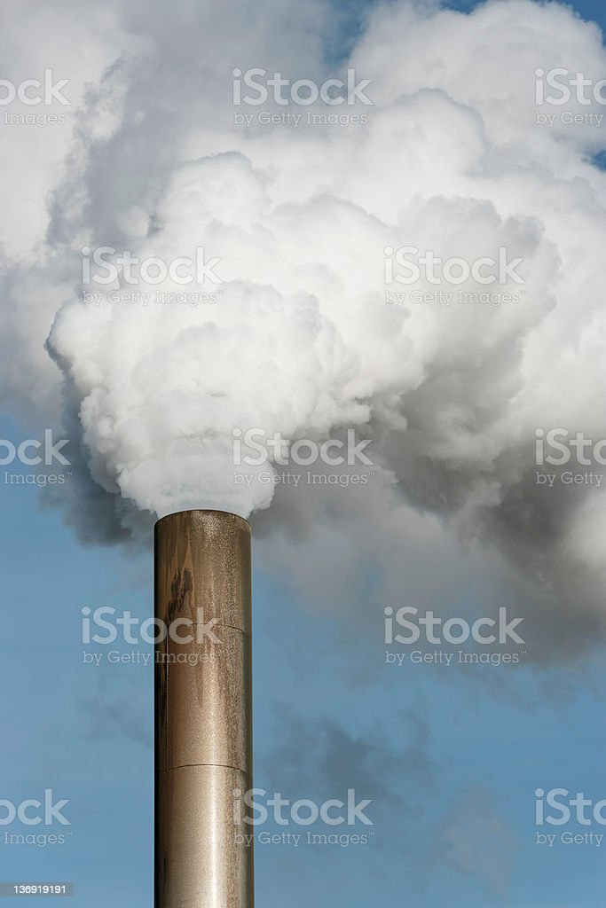 XXL air pollution close-up royalty-free stock photo