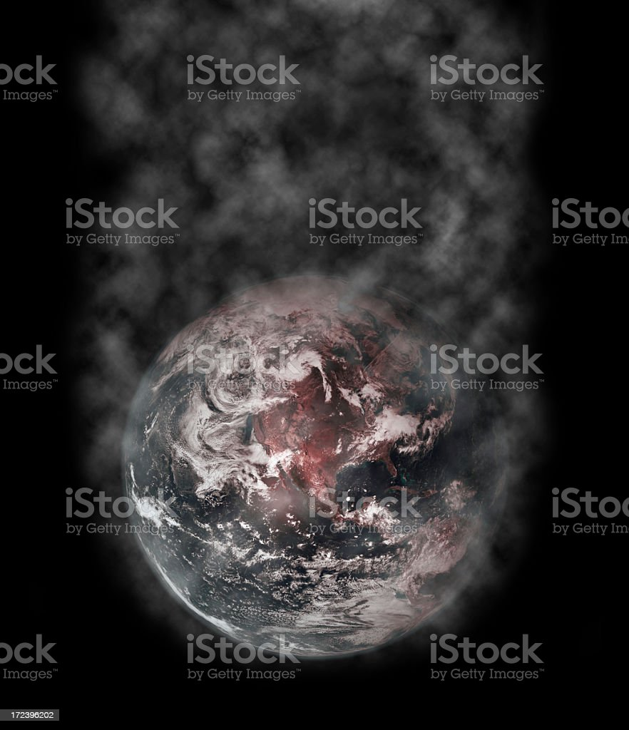 Air Pollution Concept royalty-free stock photo