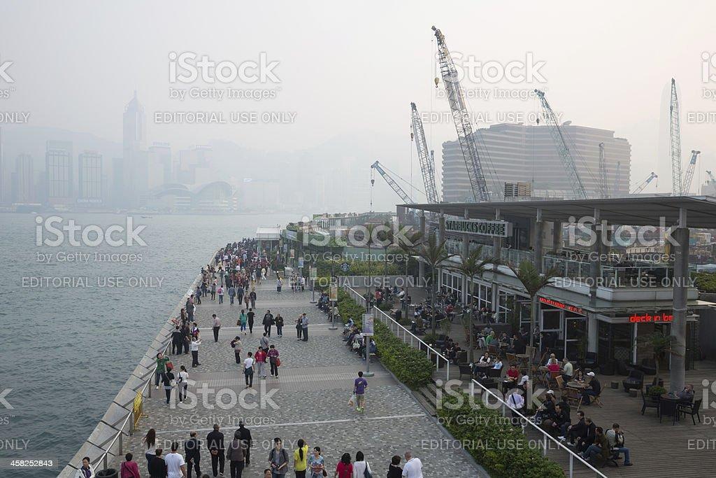 Air Pollution in Hong Kong royalty-free stock photo