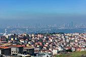 istock Air pollution in Istanbul, Turkey 1307997401