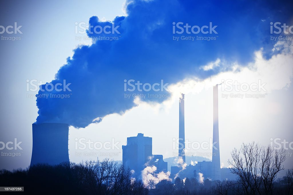 Air pollution of heavy industry royalty-free stock photo