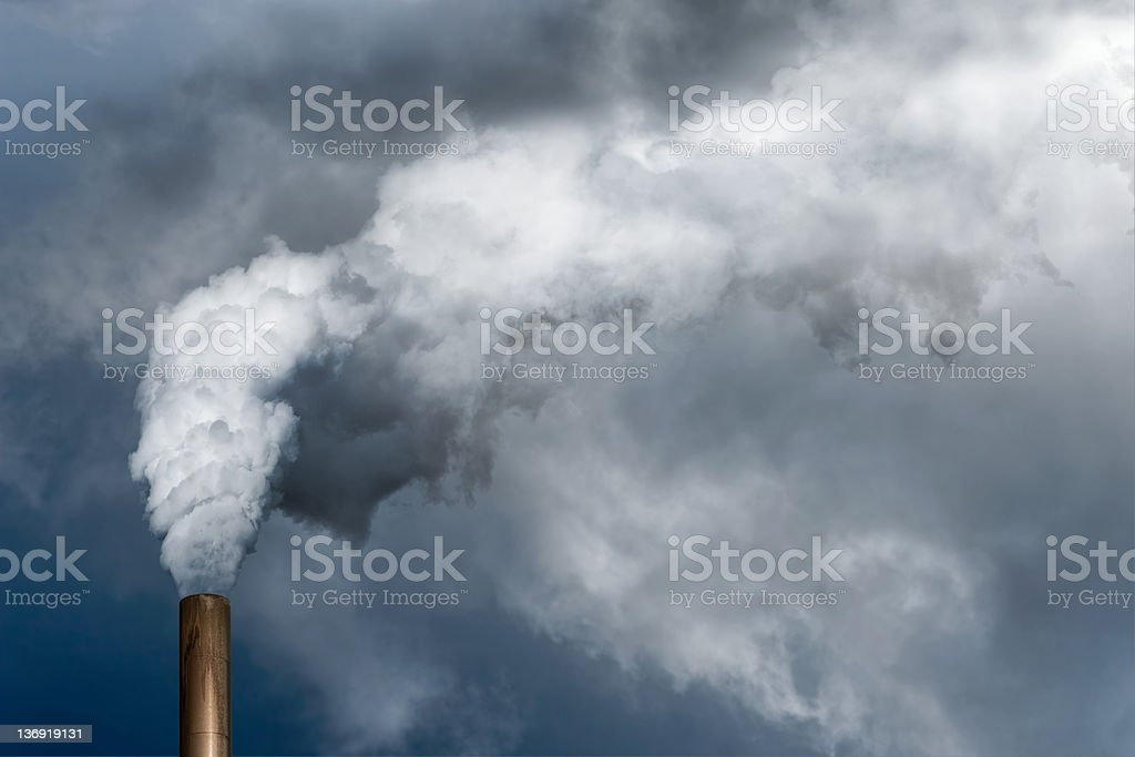 XXL air pollution stock photo