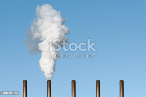thick white smoke with blue sky (XXL)