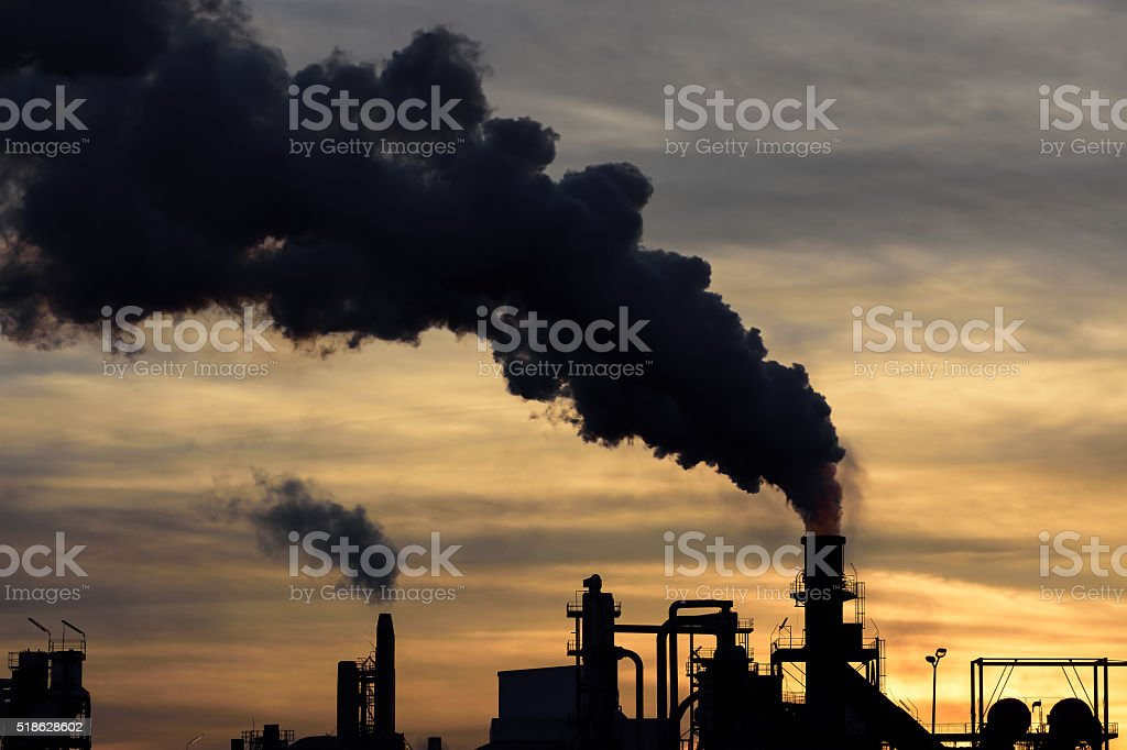 Contaminación del aire - foto de stock