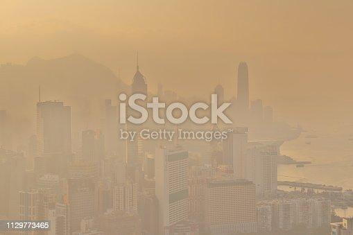 an Air pollution problem in Hong Kong
