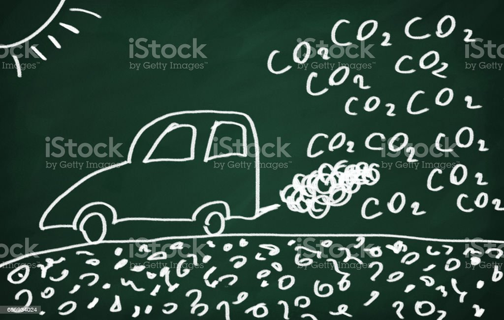 Air polution and global warming. - foto de stock