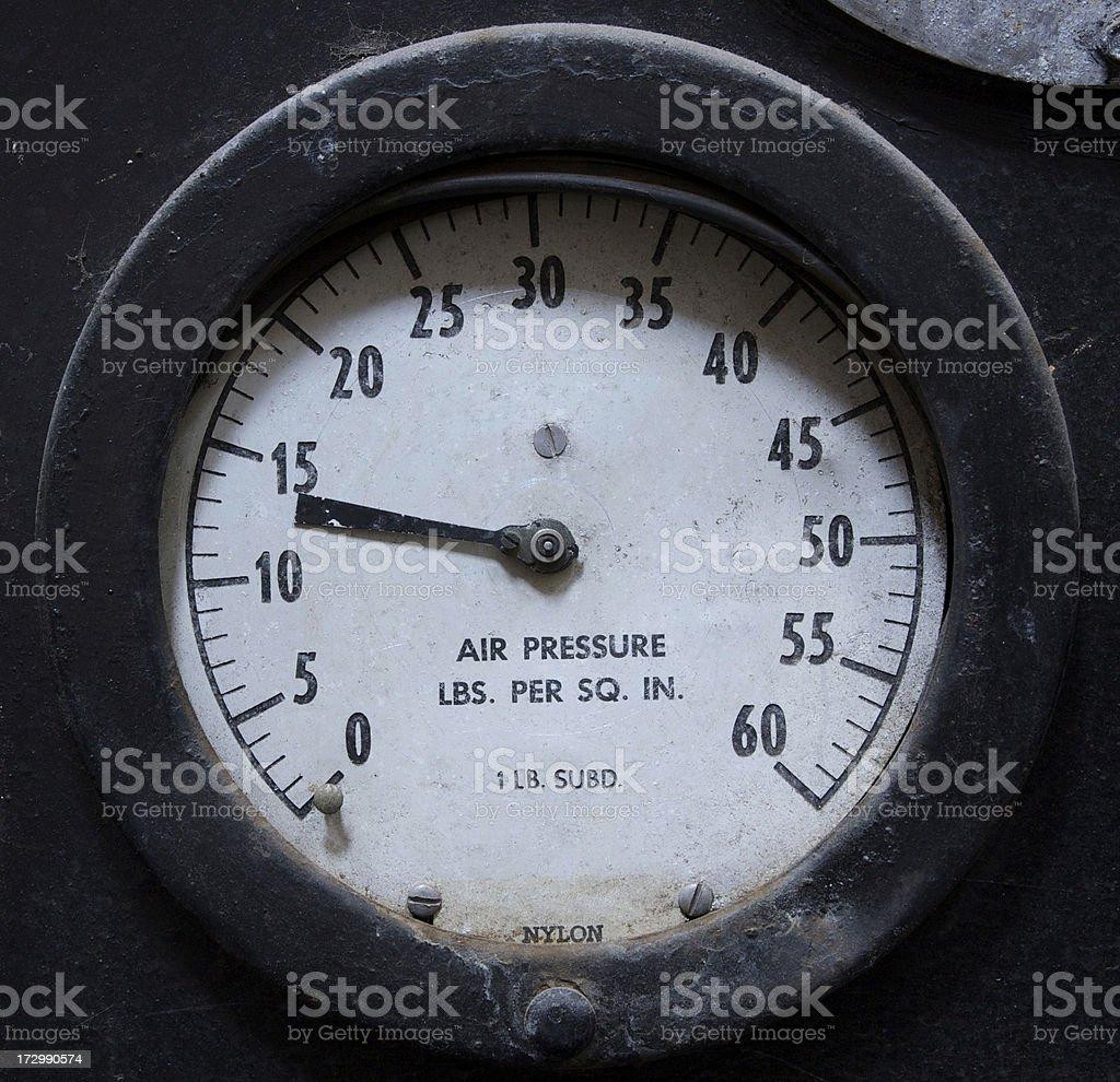 air pressure gauge stock photo