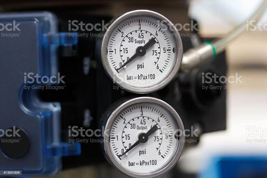 air pressure manometers stock photo