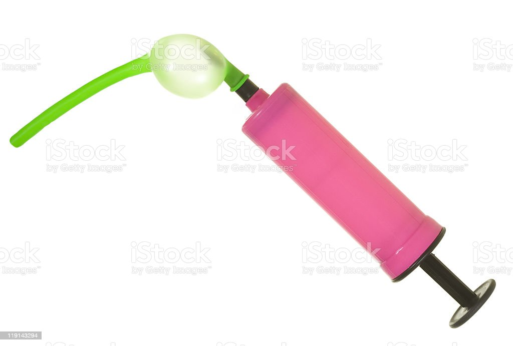 Air Pump with Balloon royalty-free stock photo
