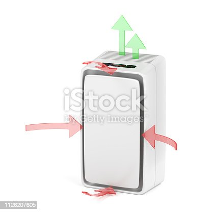 177118473 istock photo Air purifier blowing clean air 1126207605