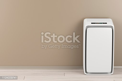 177118473 istock photo Air purifier in the room 1124223741