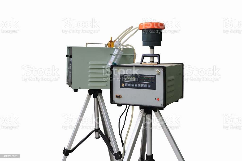air quality monitoring instruments stock photo