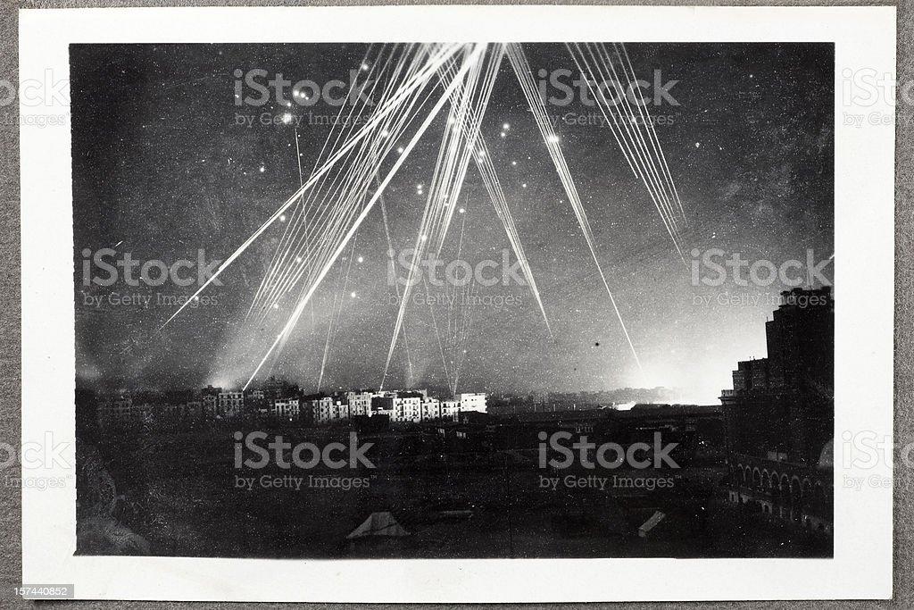 Air Raid On Alexandria Egypt stock photo