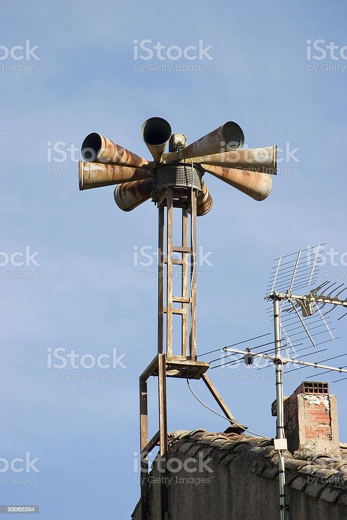 Air raid sirens stock photo