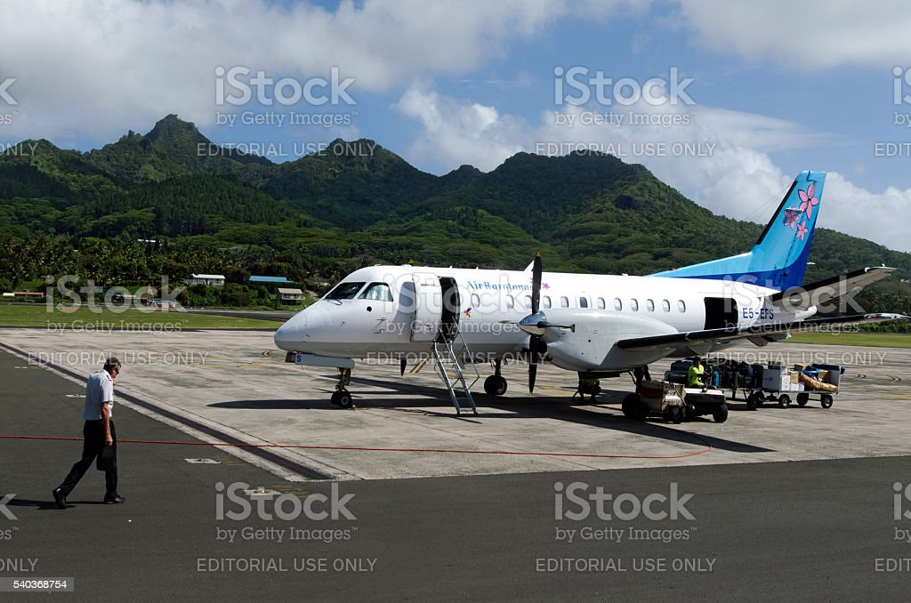 Air Rarotonga - Cook Islands stock photo