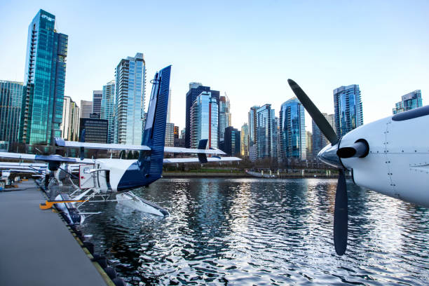 Air Seaplanes at Vancouver Harbor Flight Centre stock photo